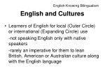 english and cultures