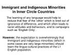immigrant and indigenous minorities in inner circle countries