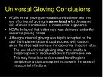 universal gloving conclusions33