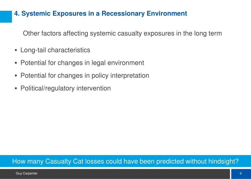 How many Casualty Cat losses could have been predicted without hindsight?