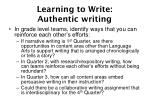 learning to write authentic writing35
