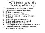 ncte beliefs about the teaching of writing
