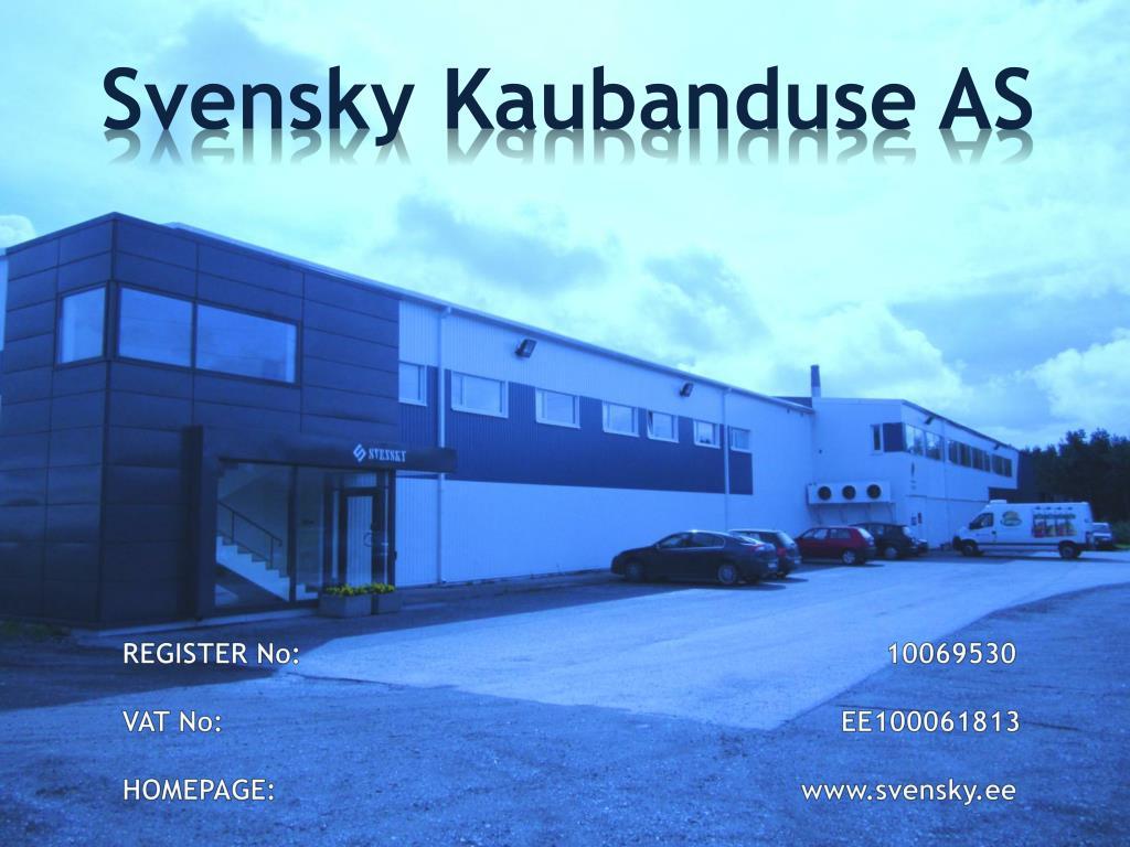svensky kaubanduse as l.