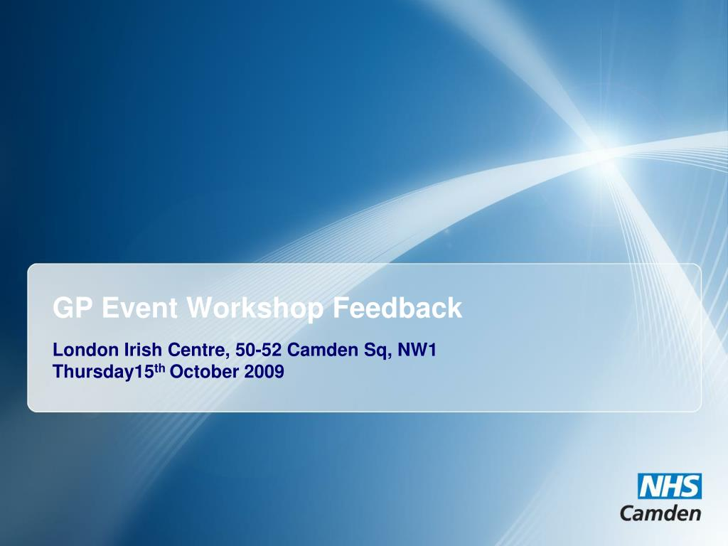 gp event workshop feedback l.