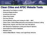 clean cities and afdc website tools