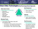 clean cities technologies fuel technology neutral approach