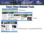 clean cities website tools
