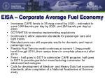 eisa corporate average fuel economy