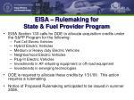 eisa rulemaking for state fuel provider program
