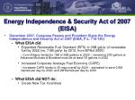 energy independence security act of 2007 eisa
