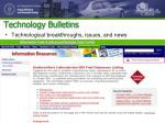 technology bulletins