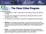 the clean cities program