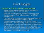 grant budgets14