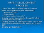grant development process