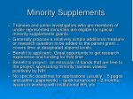 minority supplements