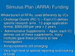 stimulus plan arra funding