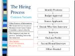 the hiring process7
