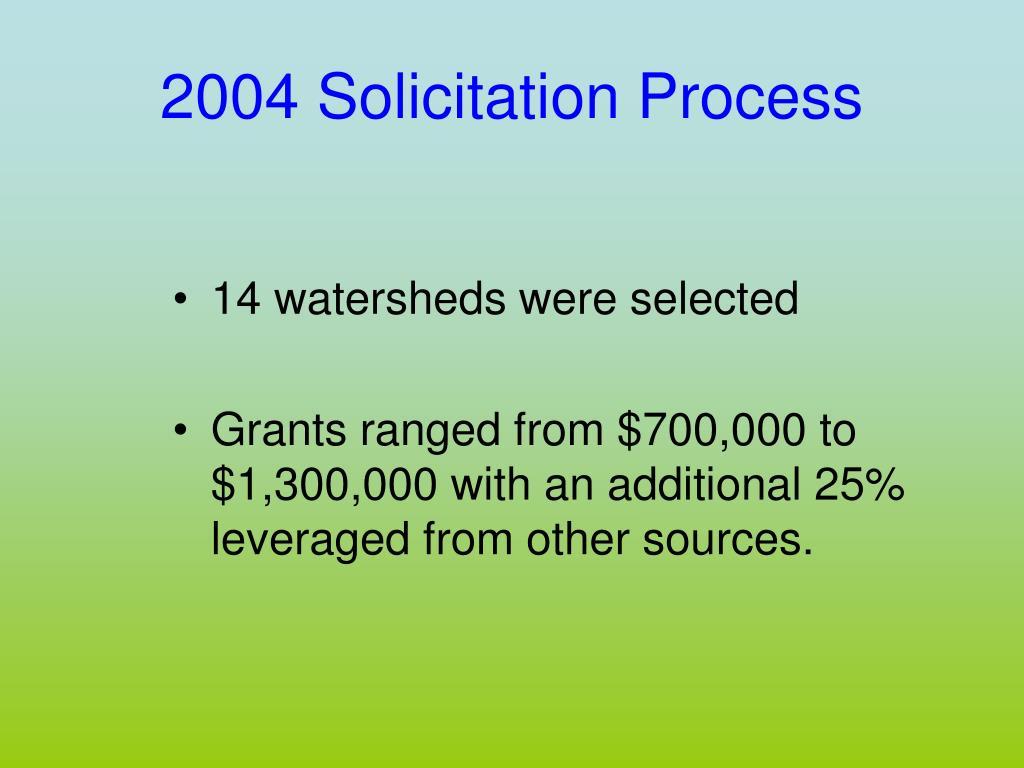 2004 Solicitation Process