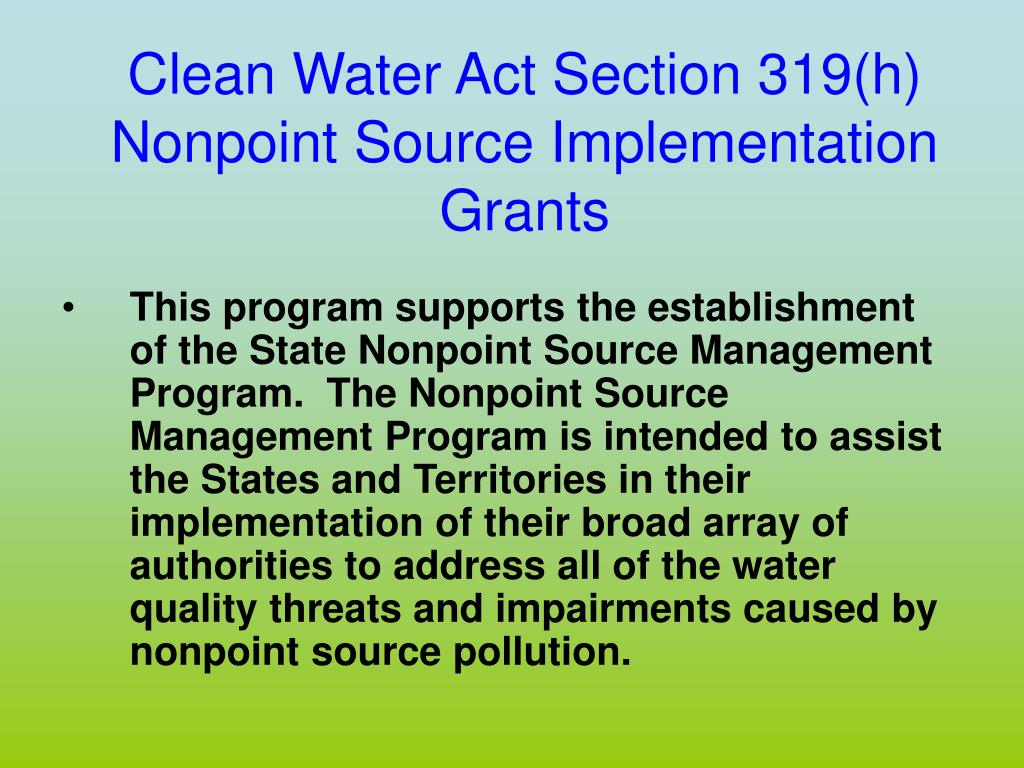 Clean Water Act Section 319(h)
