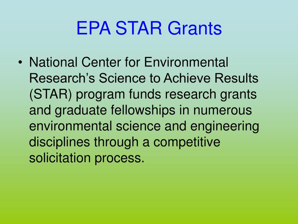 EPA STAR Grants