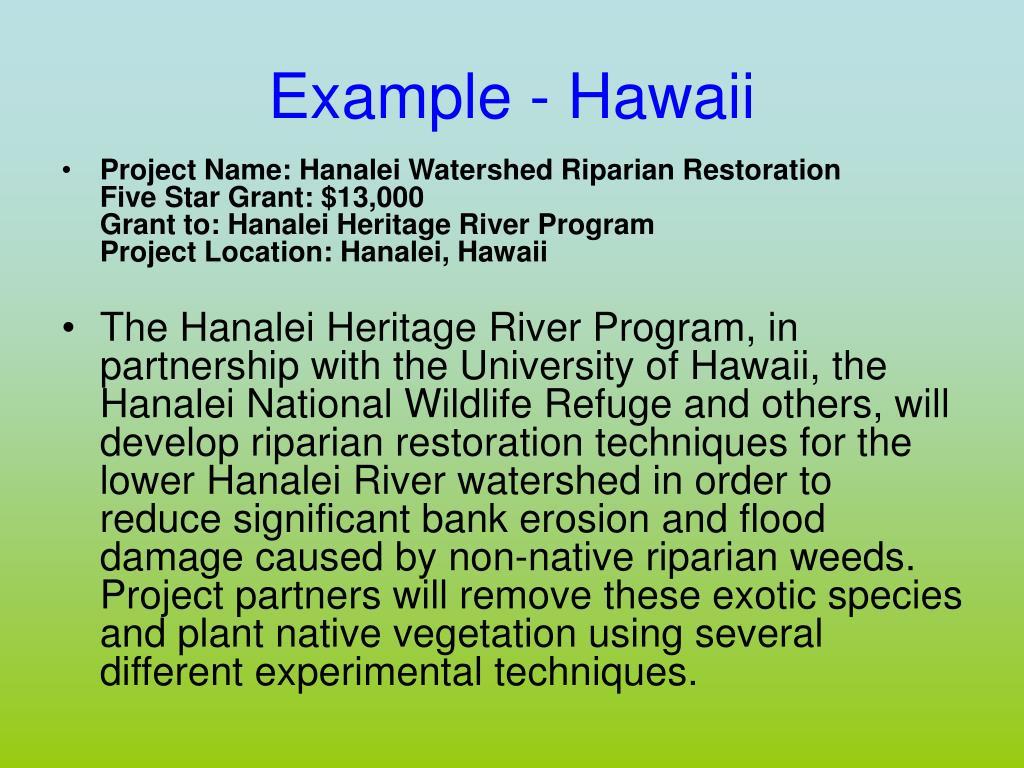 Example - Hawaii