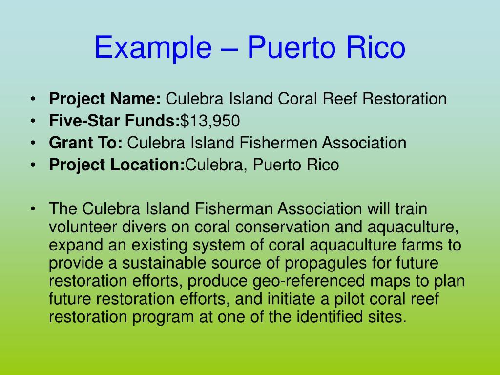 Example – Puerto Rico