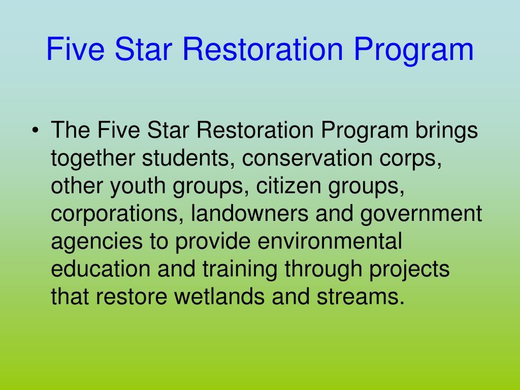 Five Star Restoration Program