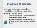 evolution of magmas