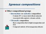 igneous compositions29