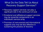 what do the data tell us about recovery support services