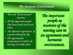 the harmonic environment