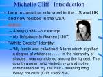 michelle cliff introduction
