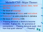 michelle cliff major themes
