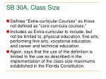 sb 30a class size