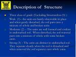 description of structure