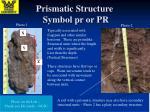prismatic structure symbol pr or pr