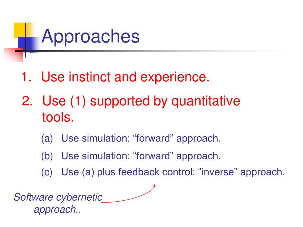 Software cybernetic approach..