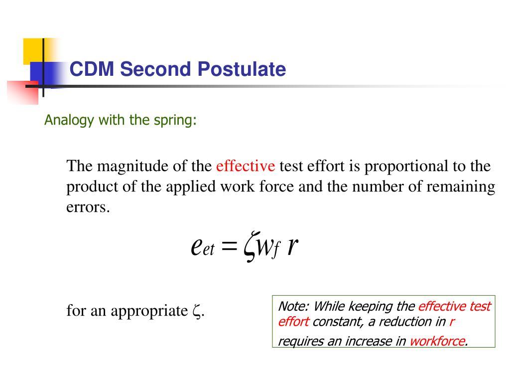CDM Second Postulate