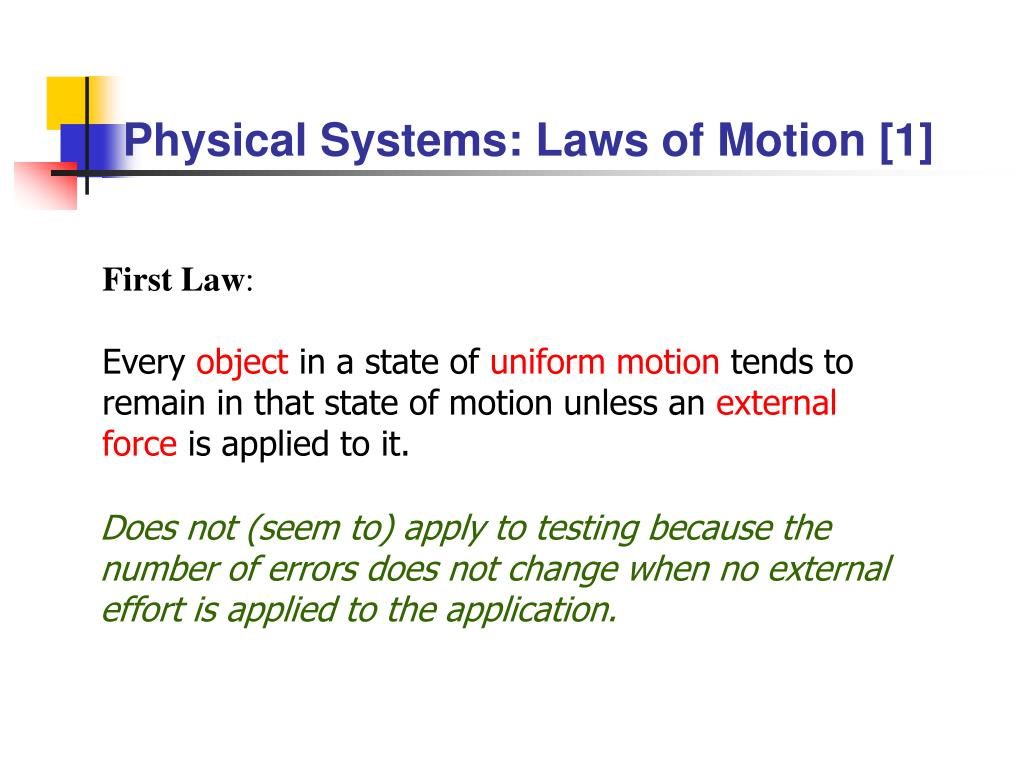 Physical Systems: Laws of Motion [1]