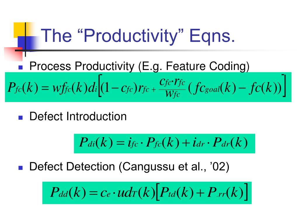 Process Productivity (E.g. Feature Coding)