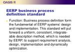 eerp business process definition standard