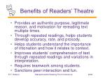 benefits of readers theatre