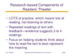 research based components of readers theater