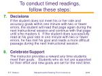 to conduct timed readings follow these steps30