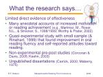 what the research says42