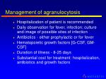 management of agranulocytosis
