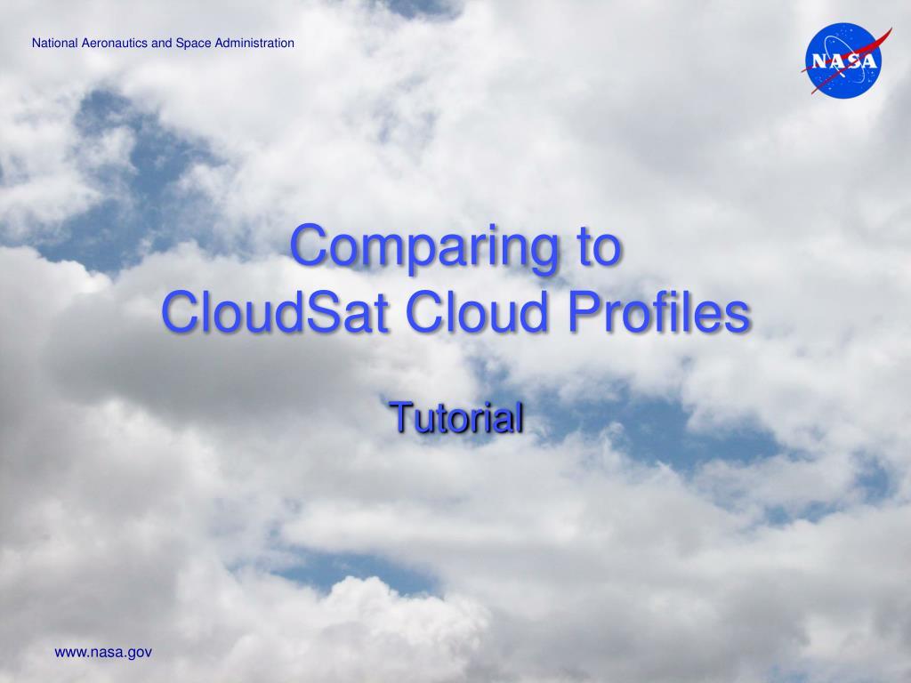comparing to cloudsat cloud profiles l.