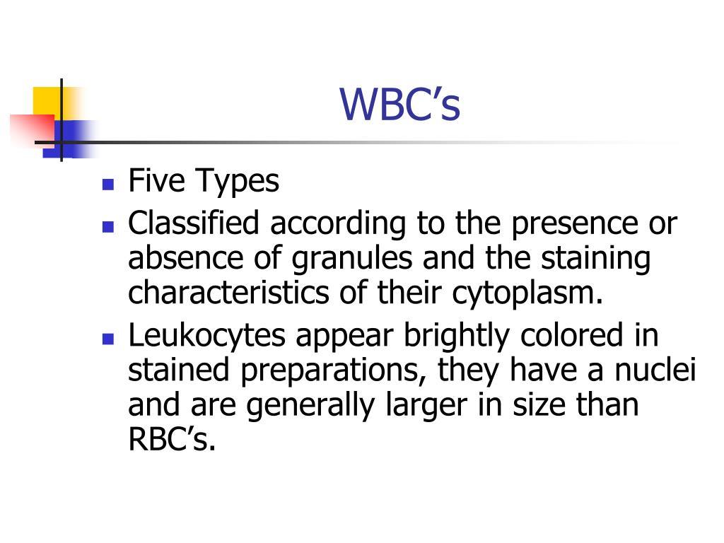 WBC's