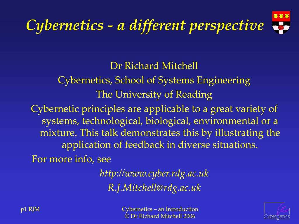 cybernetics a different perspective l.