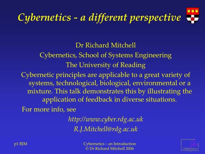 Cybernetics a different perspective